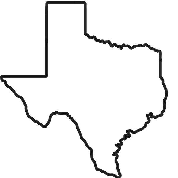 Texas Outline Rubber Stamp State Rubber Stamps Stamptopia