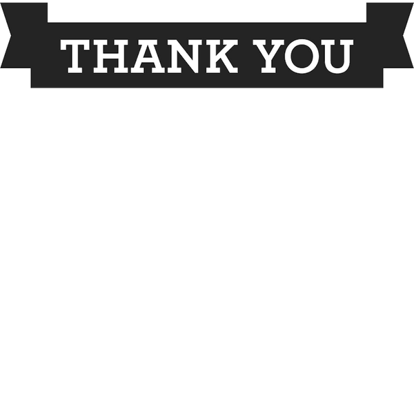 Thank You Banner Stamp - Stamptopia