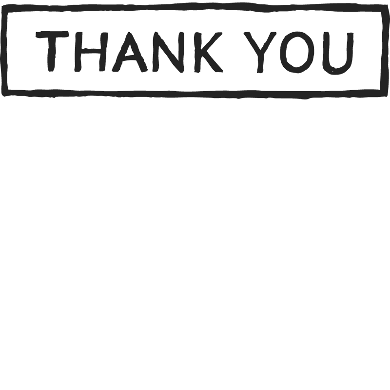 Thank You Sketch Stamp With Border - Stamptopia