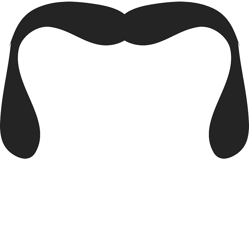 The Horseshoe Stache Rubber Stamp - Stamptopia