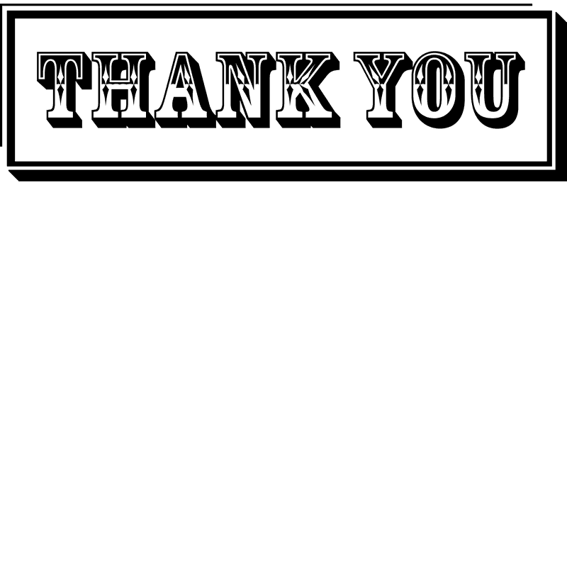 Western-Style Thank You Stamp - Stamptopia