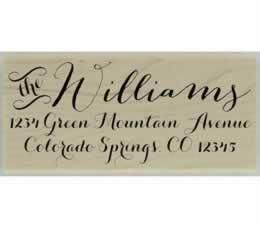 "Wilson Calligraphy Return Address Stamp - 2.5"" X 1.25"" - Stamptopia"