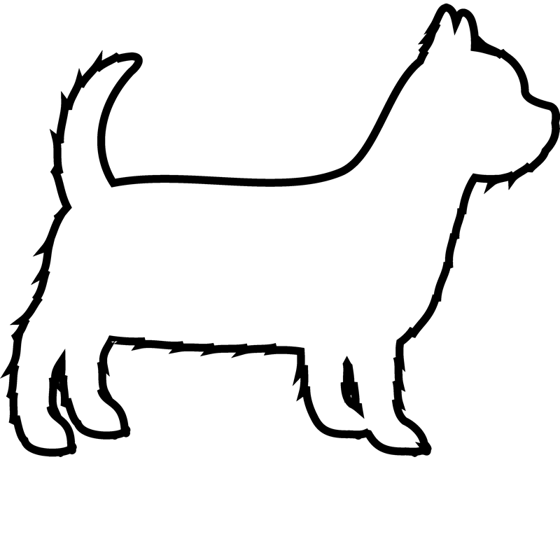 Yorkshire Terrier Rubber Stamp (Outline) - Stamptopia
