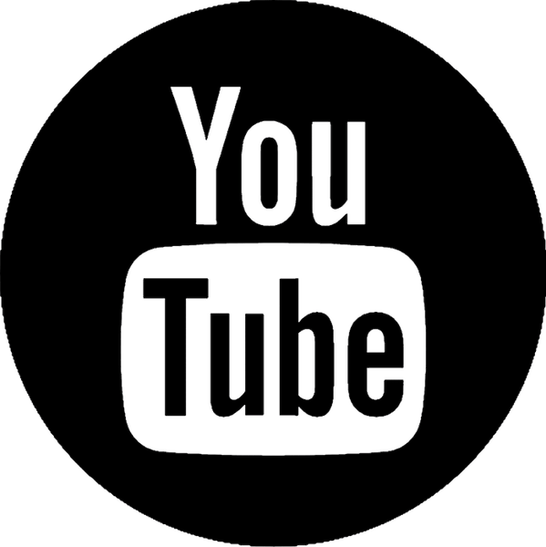 You Tube Round Logo Rubber Stamp - Stamptopia