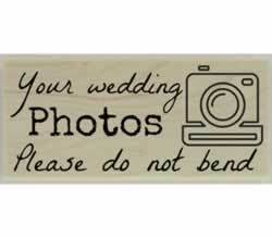 "Your Wedding Photos Rubber Stamp - 2.5"" X 1"" - Stamptopia"