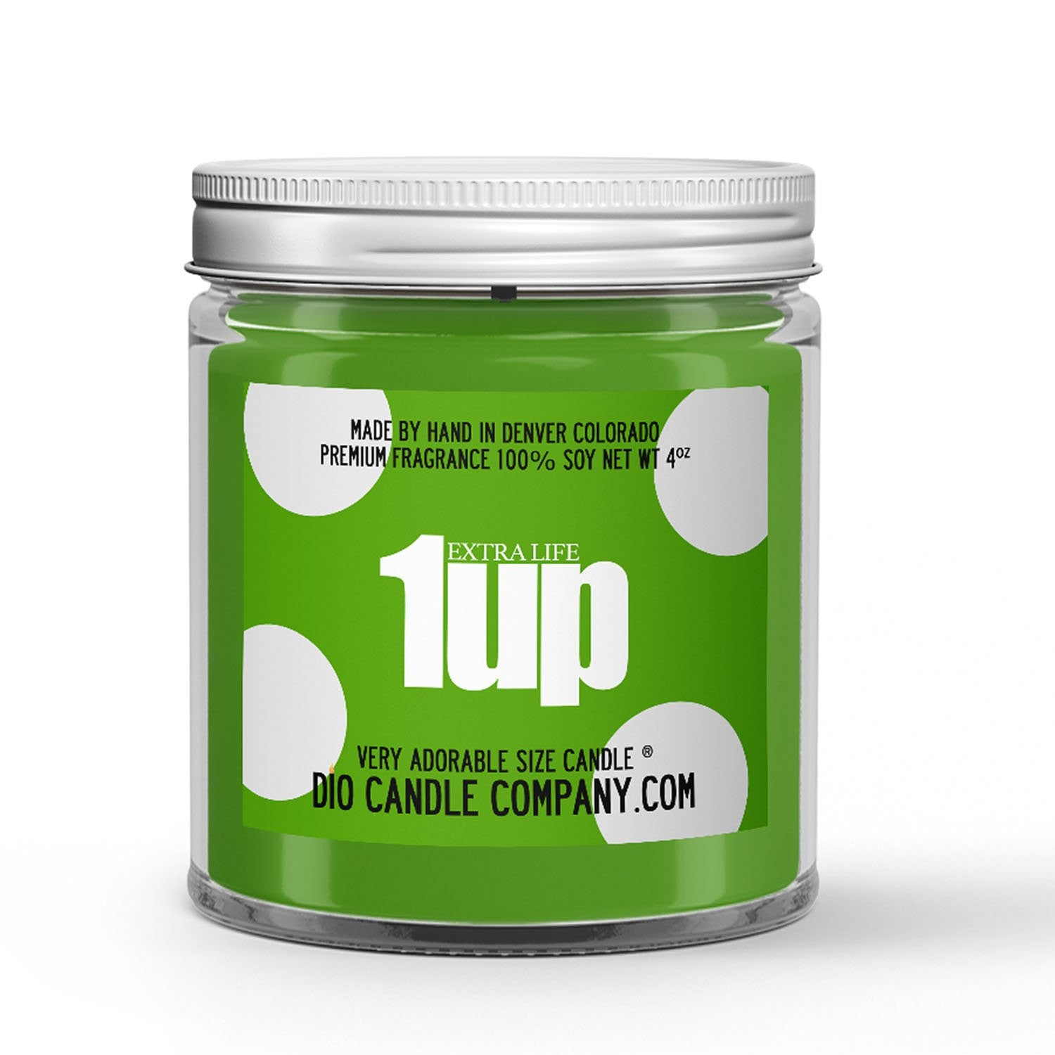 1 Up Extra Life Gaming Candle Banana - Grapefruit Scented - Dio Candle Company