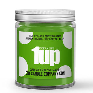 1 Up Extra Life Candle - Banana - Grapefruit - 8oz Super Adorable Size Candle® - Dio Candle Company