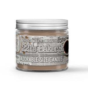 221b Baker Street Candle - Newspaper Print - Pipe Tobacco - Espresso - 1oz Adorable Size Candle® - Dio Candle Company