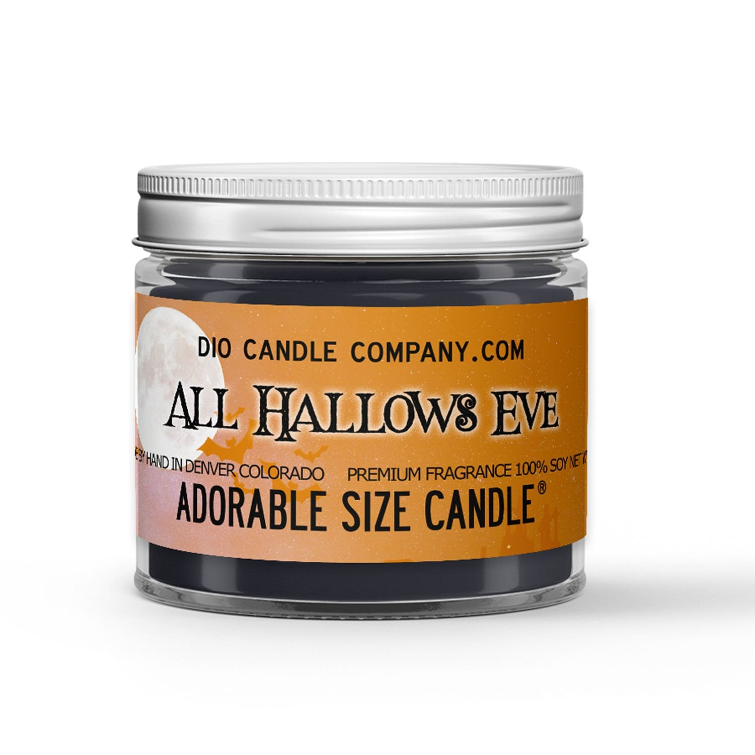 All Hallows Eve Candle - Ginger - Pumpkin - 1oz Adorable Size Candle® - Dio Candle Company
