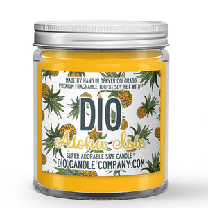 Pineapple Ice Cream Scented - Aloha Isle Candle - 8 oz - Dio Candle Company