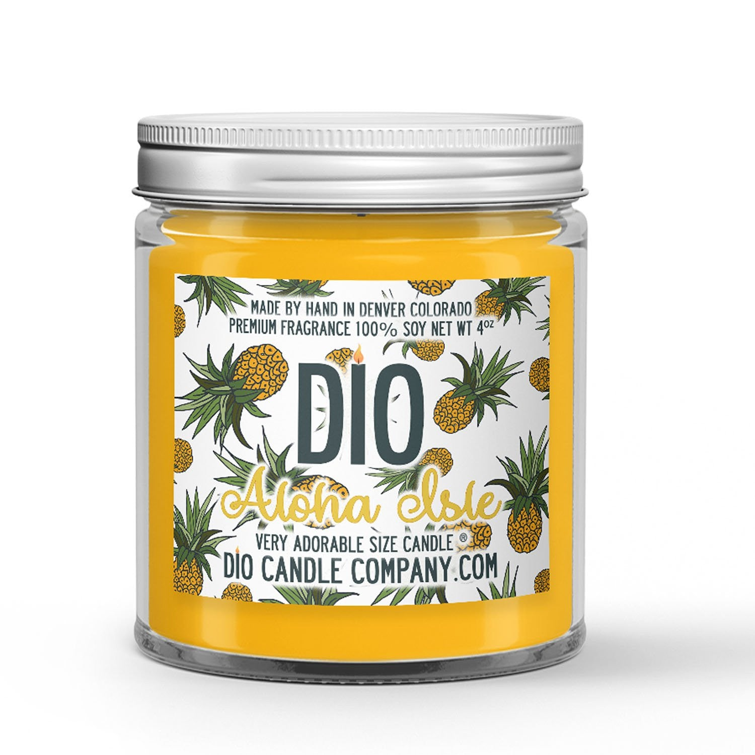 Aloha Isle Candle Pineapple Ice Cream Scented - Dio Candle Company
