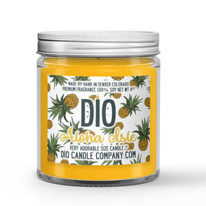 Pineapple Ice Cream Scented - Aloha Isle Candle - 4 oz - Dio Candle Company