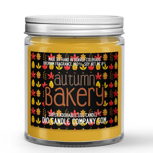 Autumn Bakery Candle - Apple Pie - Banana Muffins - Pumpkin - 8oz Super Adorable Size Candle® - Dio Candle Company