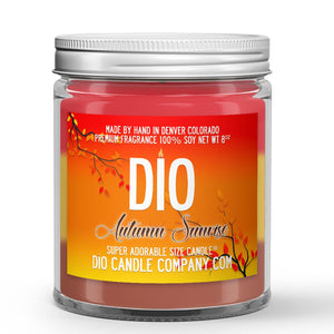 Spiced Cranberry Apple Marmalade Scented - Autumn Sunrise Candle - 8 oz - Dio Candle Company