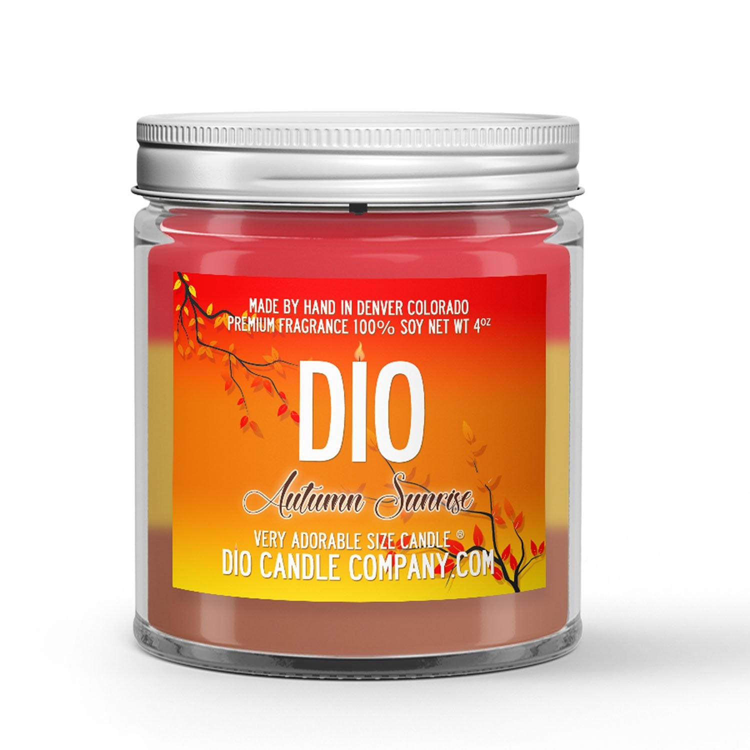 Autumn Sunrise Candle - Spiced Cranberry Apple Marmalade - 4oz Very Adorable Size Candle® - Dio Candle Company