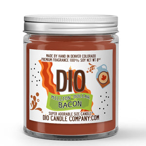 Bacon - Maple Syrup - Cracked Black Pepper Scented - Million Dollar Bacon Candle - 8 oz - Dio Candle Company