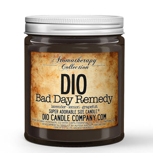 Bad Day Remedy Certified Aromatherapy Candle - Lavender - Lemon - Grapefruit - 8oz Super Adorable Size Candle® - Dio Candle Company