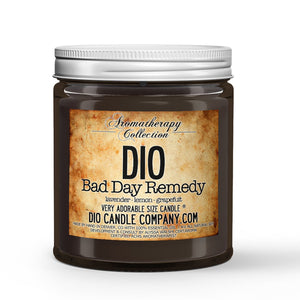 Bad Day Remedy Certified Aromatherapy Candle - Lavender - Lemon - Grapefruit - 4oz Very Adorable Size Candle® - Dio Candle Company