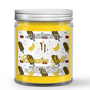 Chocolate Banana Ice Cream - Cherry - Hot Fudge Scented - Banana Split Ice Cream Candle - 8 oz - Dio Candle Company