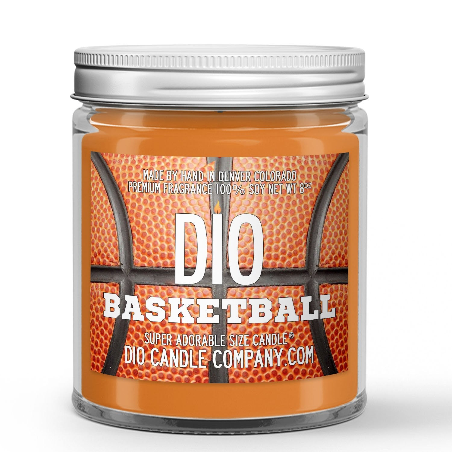 Personalized Basketball Candle