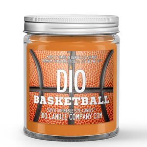 Personalized Basketball Candle - Brand New Basketball - 8oz Super Adorable Size Candle® - Dio Candle Company