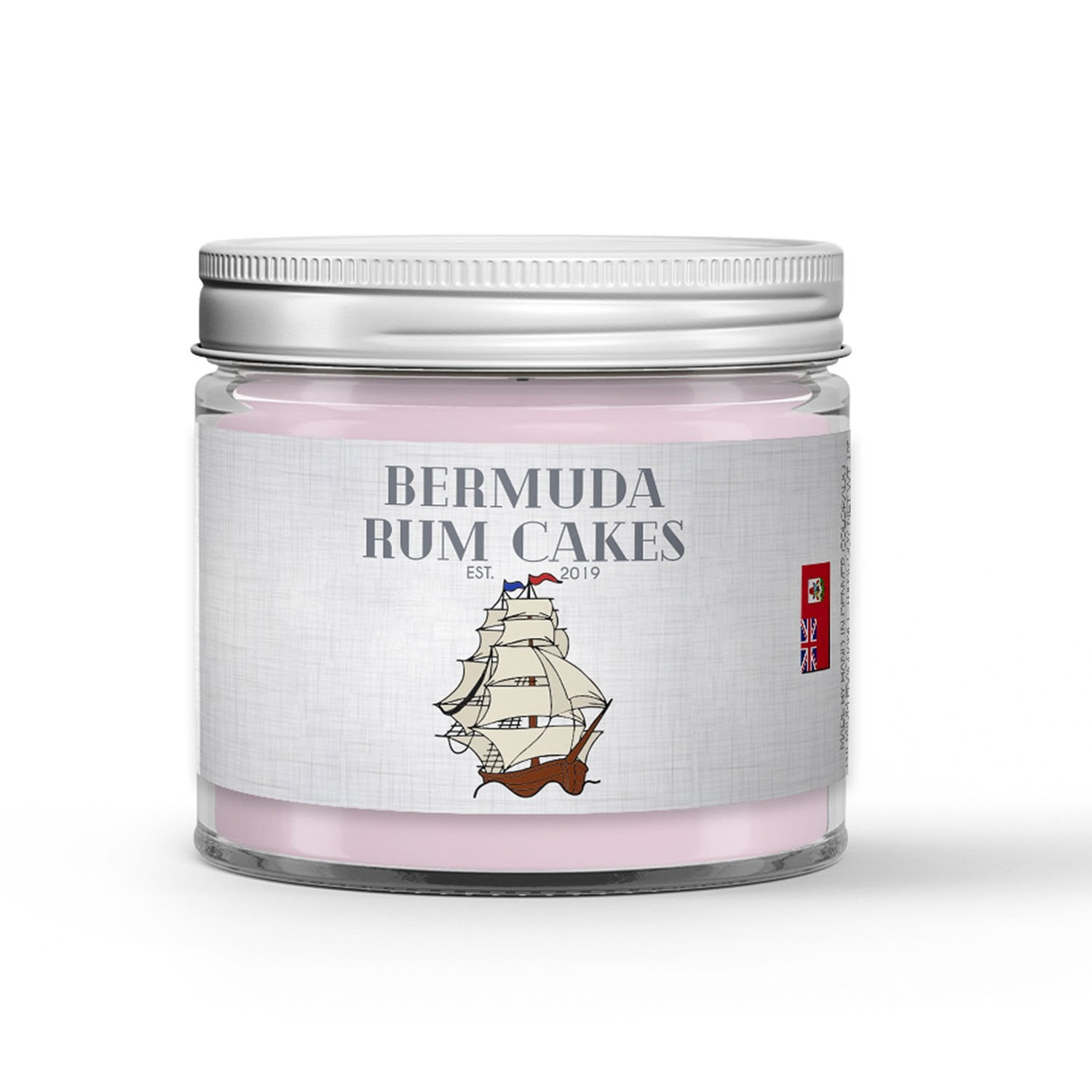 Bermuda Rum Cakes Candle - Black Seal Rum - Royal Icing - Cake - Sea Salt - 1oz Adorable Size Candle® - Dio Candle Company