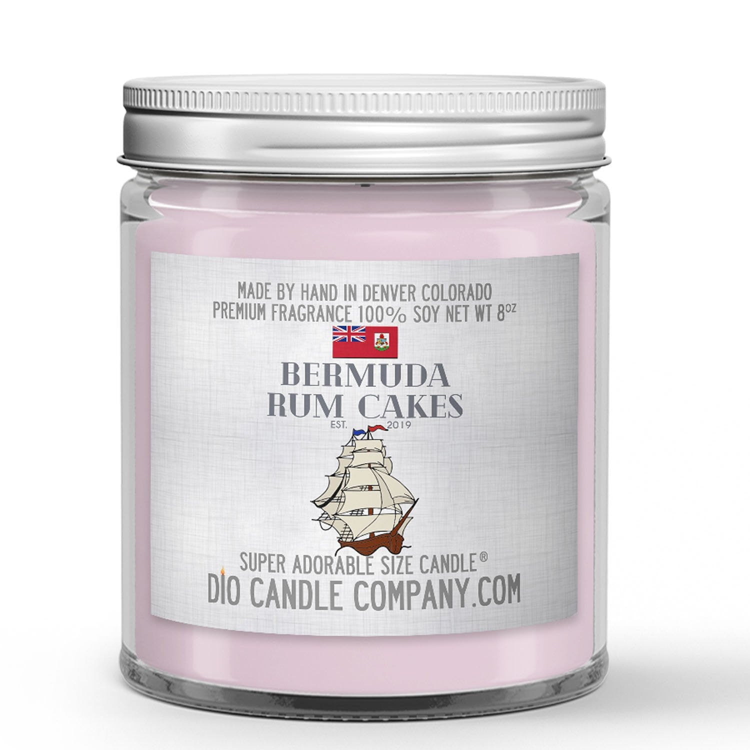 Bermuda Rum Cakes Candle - Black Seal Rum - Royal Icing - Cake - Sea Salt - 8oz Super Adorable Size Candle® - Dio Candle Company