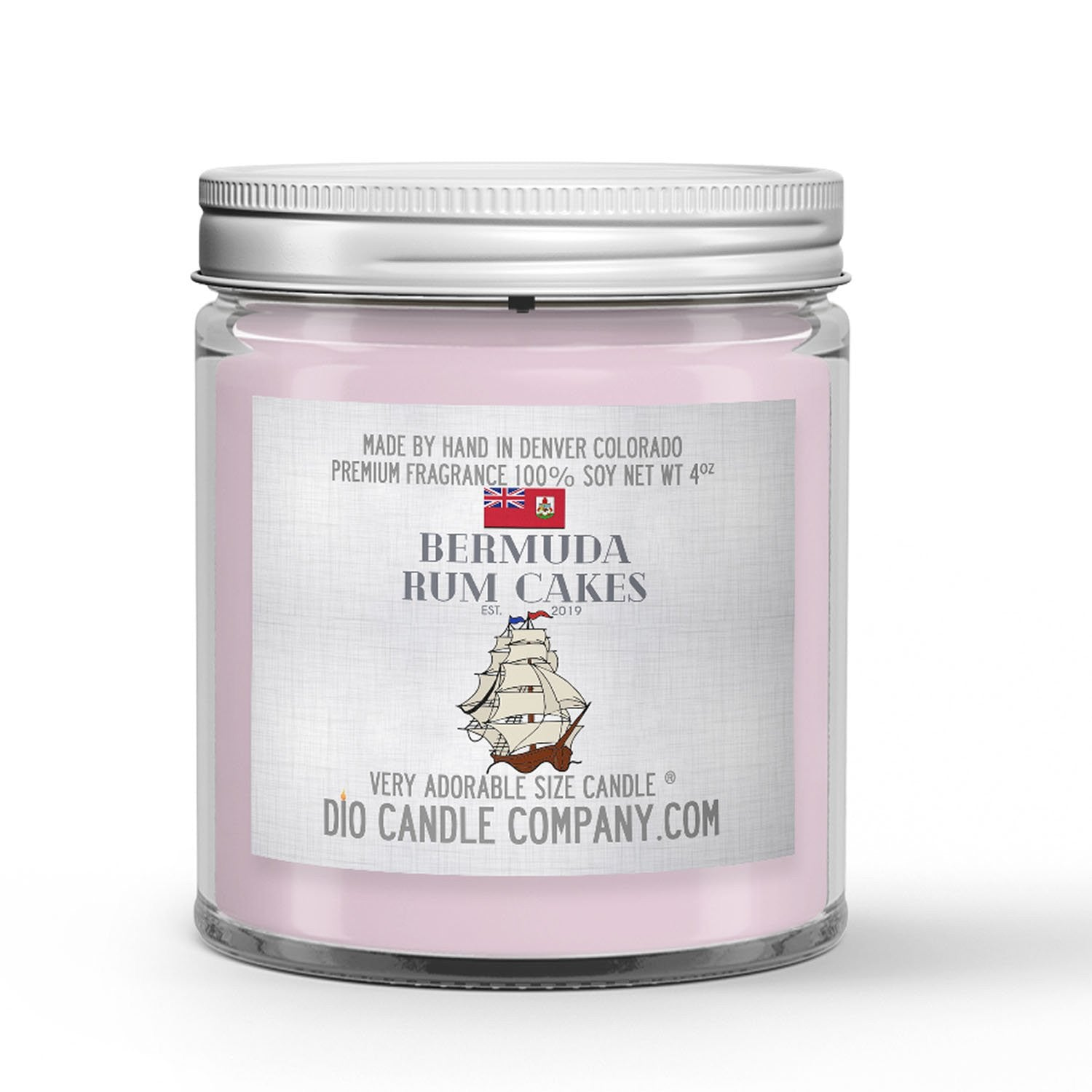 Bermuda Rum Cakes Candle - Black Seal Rum - Royal Icing - Cake - Sea Salt - 4oz Very Adorable Size Candle® - Dio Candle Company
