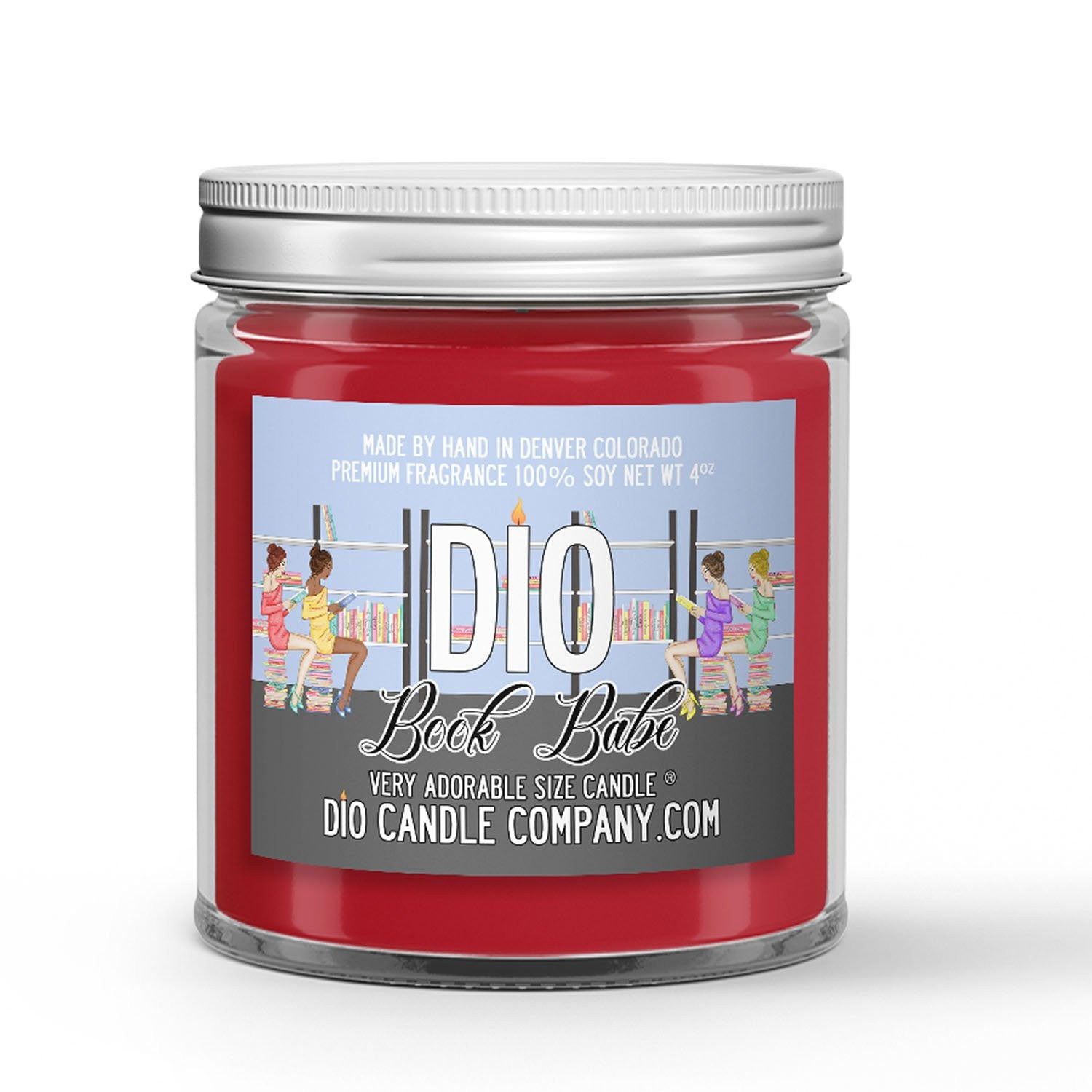 Book Babe Candle - Chocolate - Strawberries - Roses - 4oz Very Adorable Size Candle® - Dio Candle Company