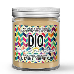 Book at the Beach Candle - Books - Sunshine - Beach Waves - 8oz Super Adorable Size Candle® - Dio Candle Company