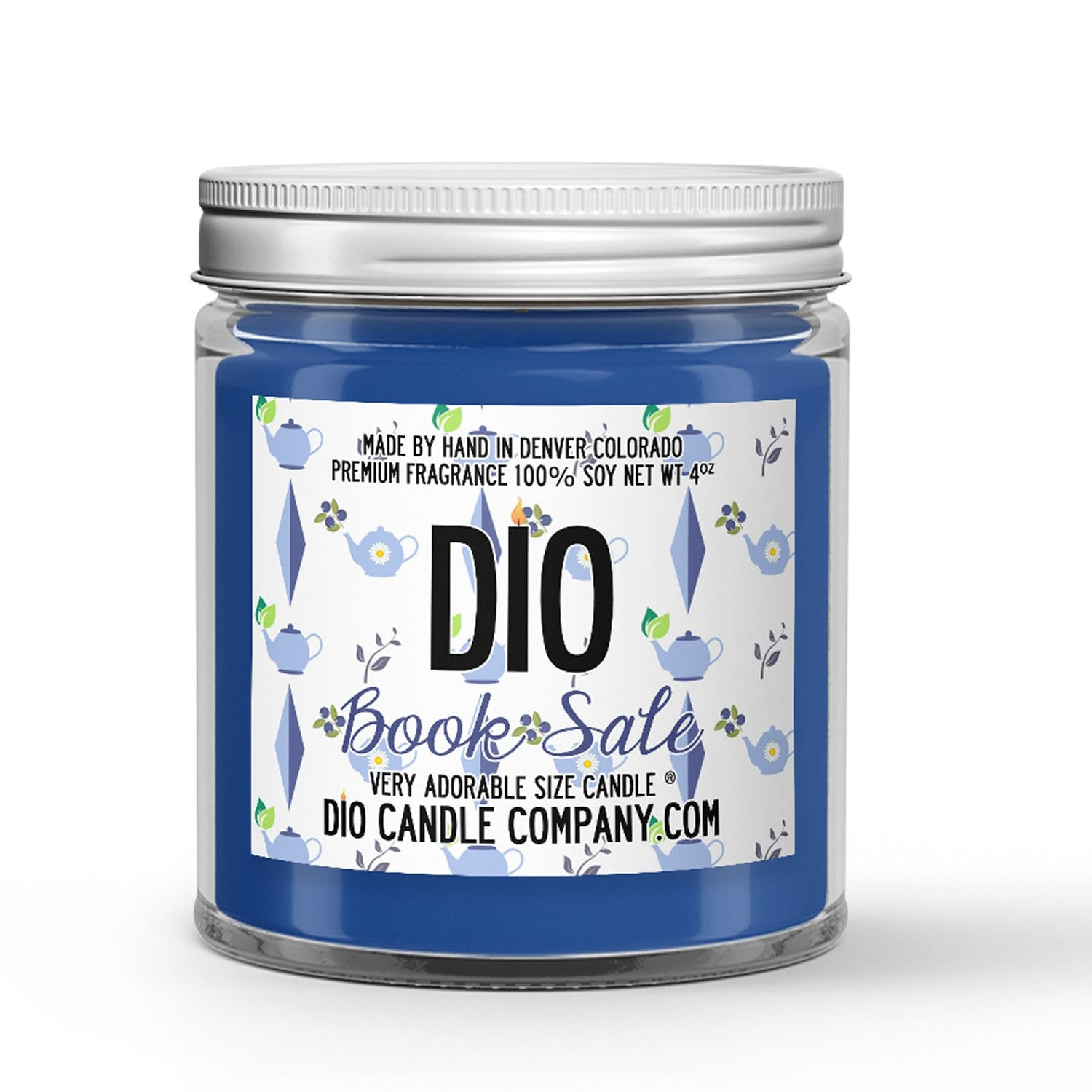 Book Sale Candle - Lemon Scone - Blueberry Earl Grey Tea - 4oz Very Adorable Size Candle® - Dio Candle Company