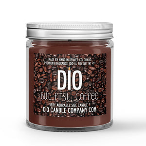 Ground Coffee Bean - Vanilla Scented - But First Coffee Candle - 4 oz - Dio Candle Company
