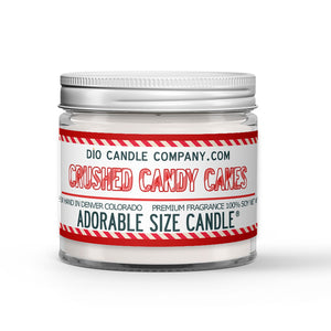 Crushed Candy Canes Candle - Sweet Vanilla - Crisp Peppermint - 1oz Adorable Size Candle® - Dio Candle Company
