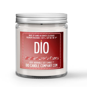 Crushed Candy Canes Candle - Sweet Vanilla - Crisp Peppermint - 4oz Very Adorable Size Candle® - Dio Candle Company