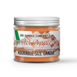 Caramel Apple Spice Candle - Hot Apple Cider - Caramel - Cinnamon - 1oz Adorable Size Candle® - Dio Candle Company