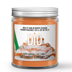Caramel Apple Spice Candle - Hot Apple Cider - Caramel - Cinnamon - 8oz Super Adorable Size Candle® - Dio Candle Company