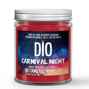 Carnival Night Candle - Candied Apples - Cotton Candy - Tilled Dirt - Fireworks - 8oz Super Adorable Size Candle® - Dio Candle Company