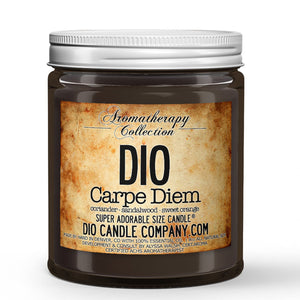 Carpe Diem Certified Aromatherapy Candle - Coriander - Sandalwood - Sweet Orange - 8oz Super Adorable Size Candle® - Dio Candle Company
