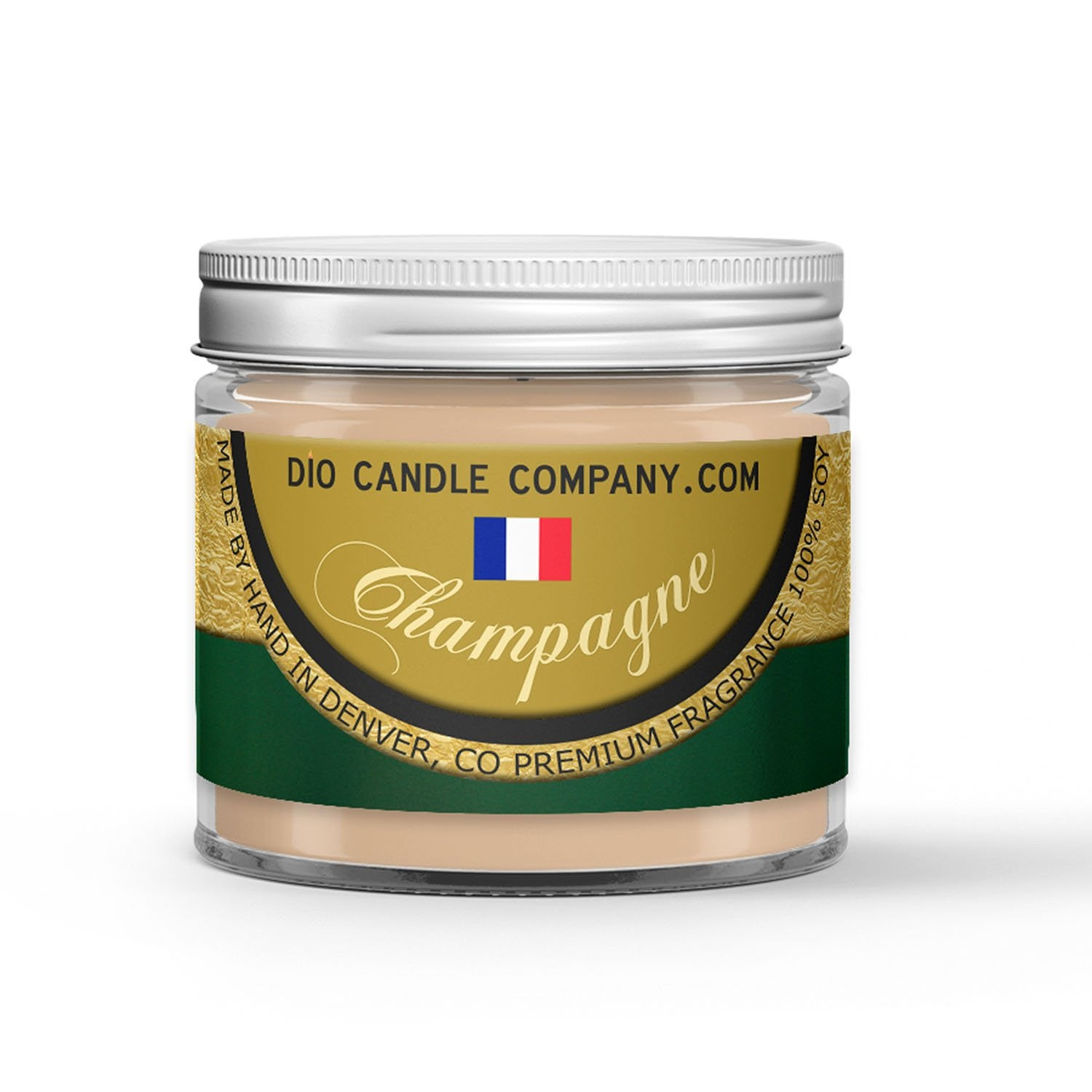 French Champagne Candle - Sparkling White Wine - Hint of Strawberry - 1oz Adorable Size Candle® - Dio Candle Company