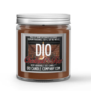 Chestnuts by the Fire Candle - Roasted Chestnuts - Clove - Vanilla Wood Stove - 4oz Very Adorable Size Candle® - Dio Candle Company