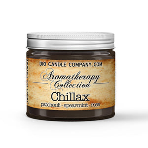 Chillax Certified Aromatherapy Candle - Patchouli - Spearmint - Rose - 1oz Adorable Size Candle® - Dio Candle Company
