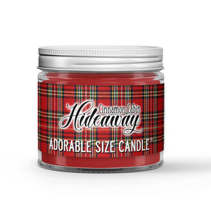 Cinnamon Cabin Hideaway Candle - Fireplace - Cinnamon - Vanilla - 1oz Adorable Size Candle® - Dio Candle Company