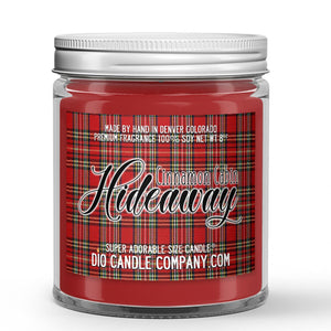 Cinnamon Cabin Hideaway Candle - Fireplace - Cinnamon - Vanilla - 8oz Super Adorable Size Candle® - Dio Candle Company