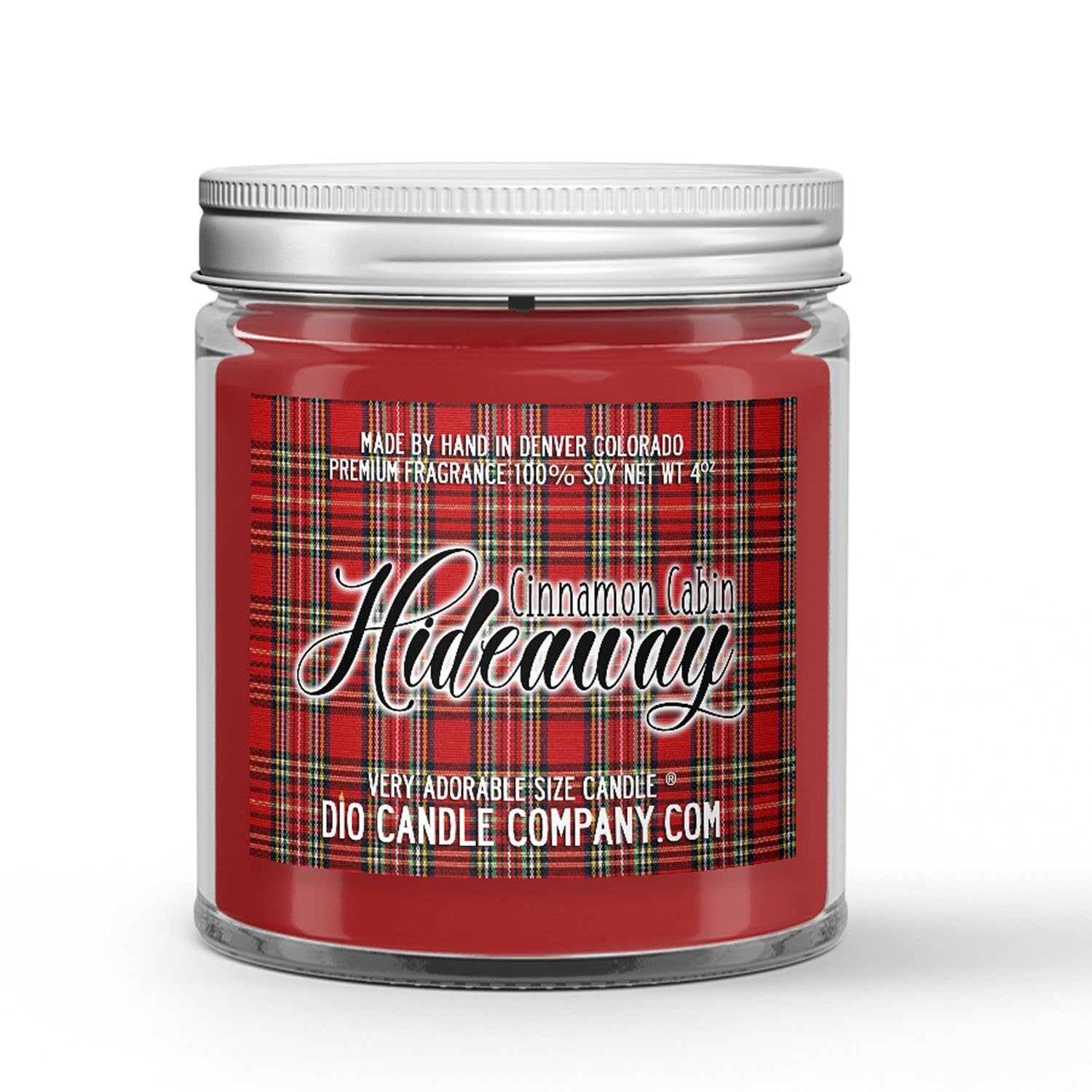 Cinnamon Cabin Hideaway Candle Fireplace - Cinnamon - Vanilla Scented - Dio Candle Company