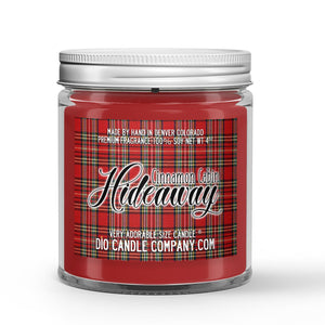 Cinnamon Cabin Hideaway Candle - Fireplace - Cinnamon - Vanilla - 4oz Very Adorable Size Candle® - Dio Candle Company