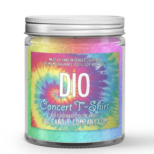 Fabric Softener - Nag Champa Scented - Concert Tee Shirt Candle - 8 oz - Dio Candle Company