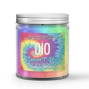 Fabric Softener - Nag Champa Scented - Concert Tee Shirt Candle - 4 oz - Dio Candle Company