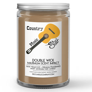 Country Music Star Candles and Wax Melts