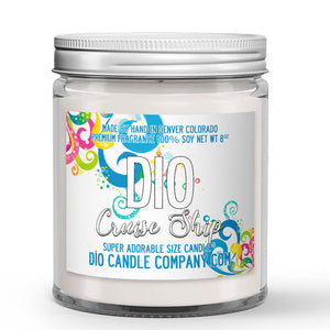 Cruise Ship Candle - State Room - Salty Ocean Air - 8oz Super Adorable Size Candle® - Dio Candle Company