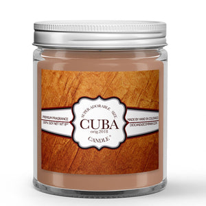 Cuban Tobacco Candle - Cuban Tobacco - Humidor - Cherry - Clove - 8oz Super Adorable Size Candle® - Dio Candle Company